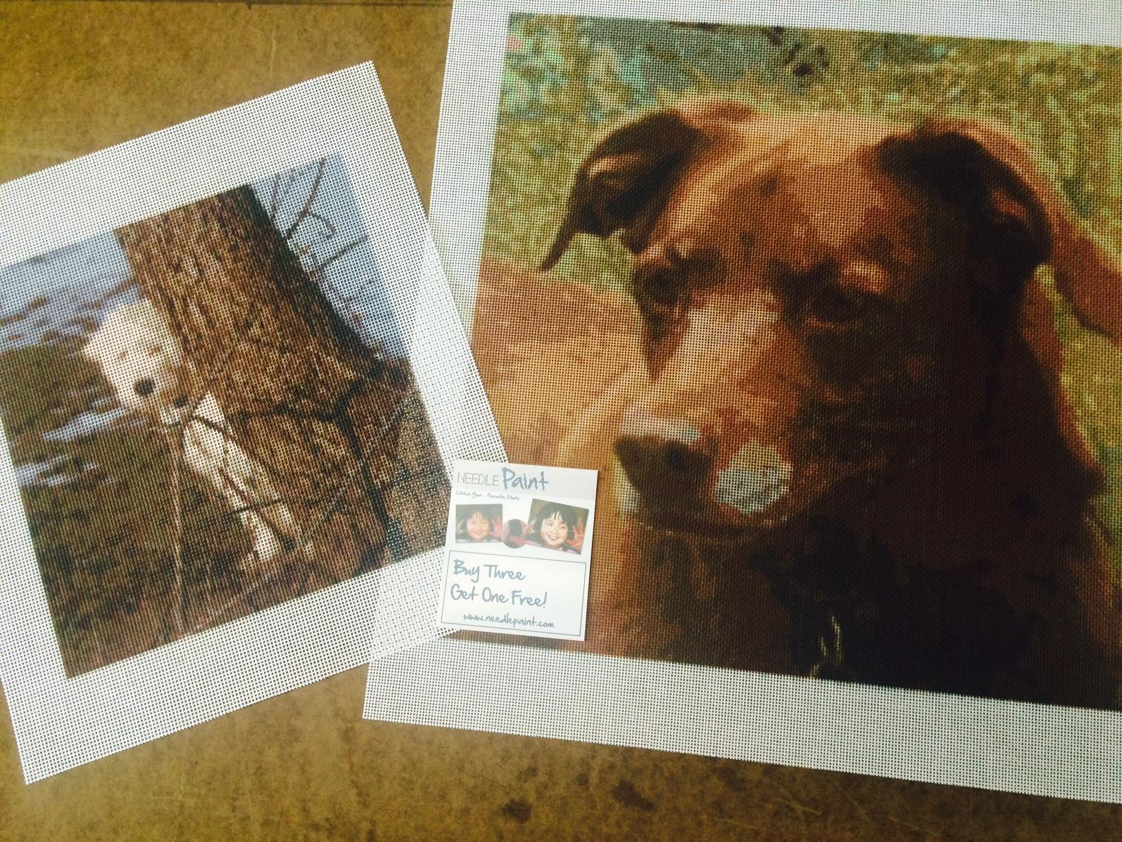 Cute Dog Needlepoint Kits from Photos