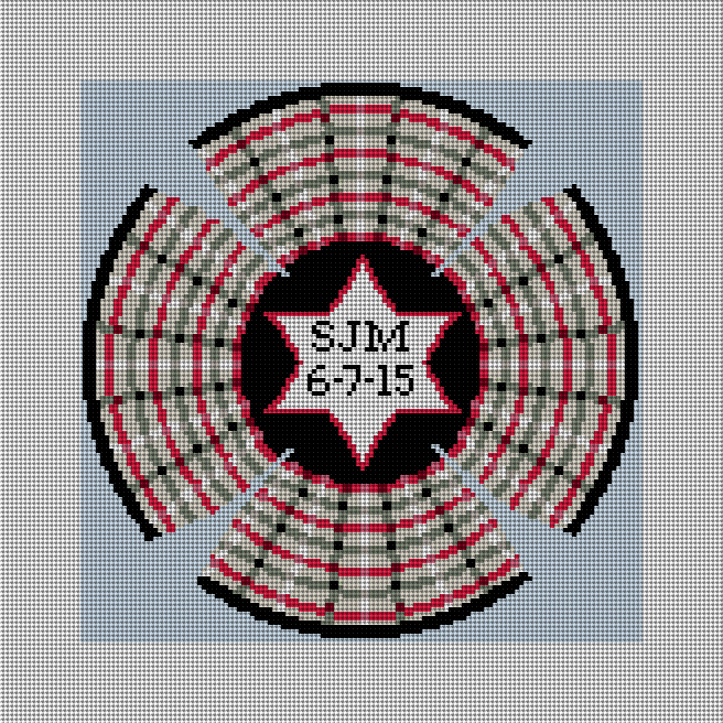 Plaid Personalized Yarmulke Needlepoint Canvas