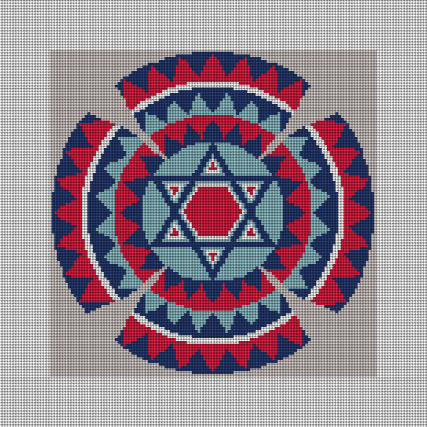 Star of David Kippah Needlepoint Kit