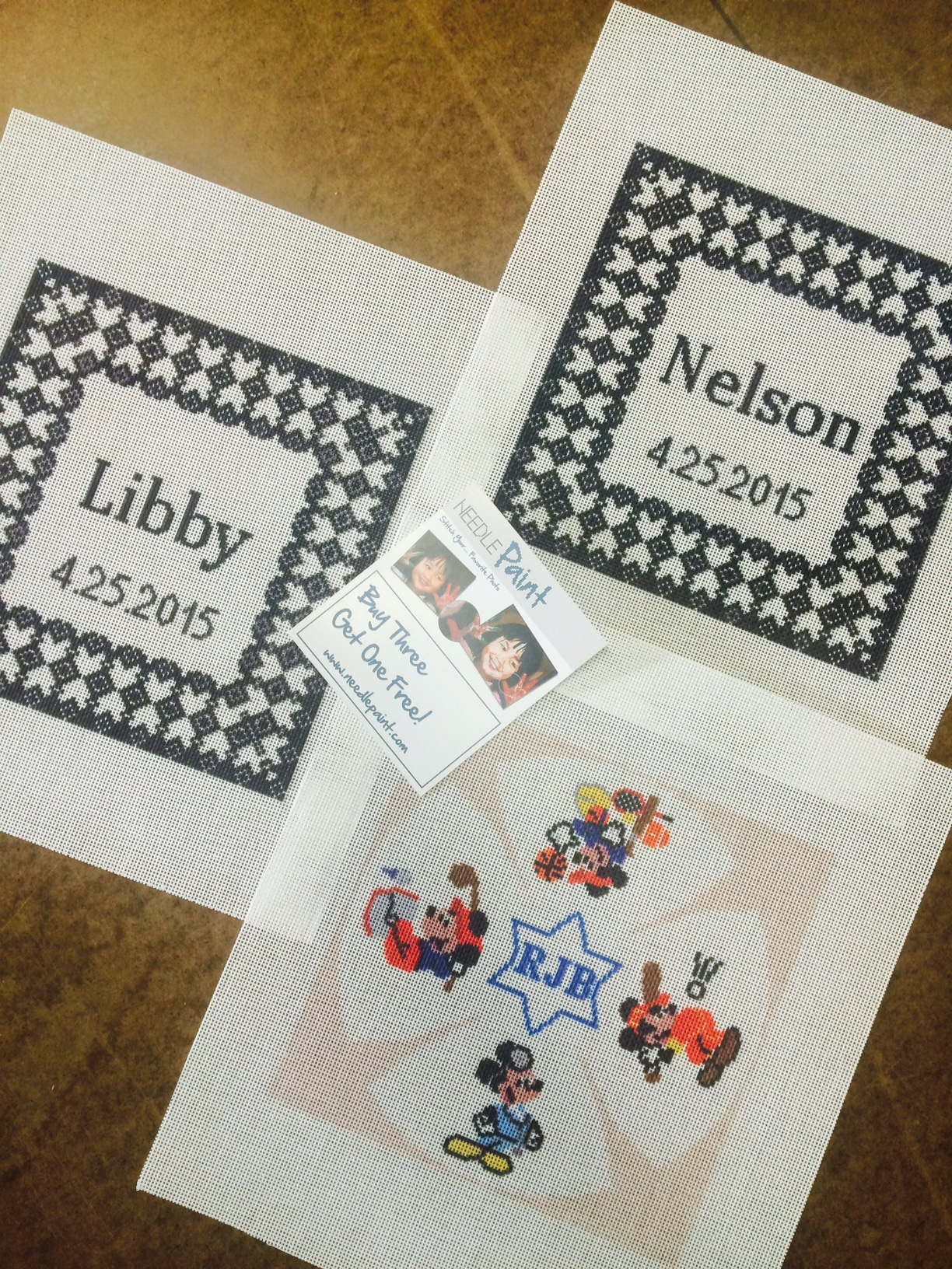 Wedding and Kippah Custom Needlepoint Canvases