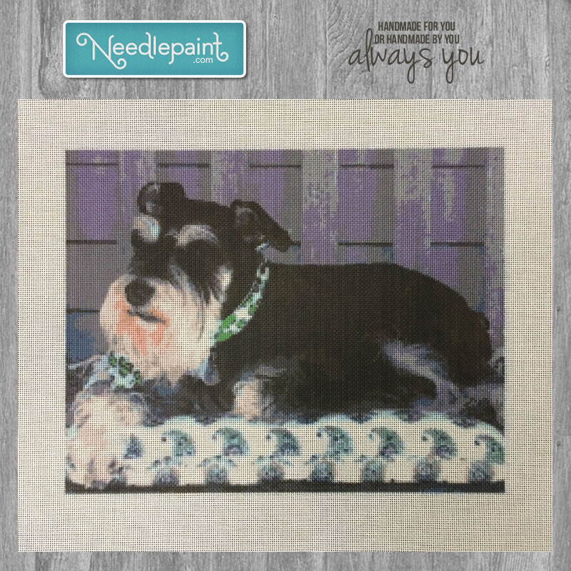 Custom Dog Needlepoint Kit
