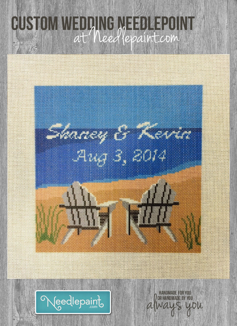 Custom Wedding Needlepoint Kit