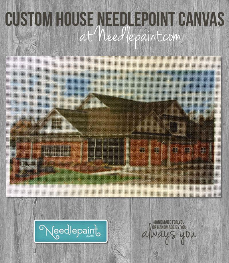 Custom House Needlepoint Canvas