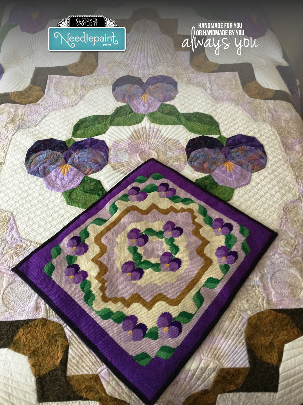 Needlepoint Rug and Quilt