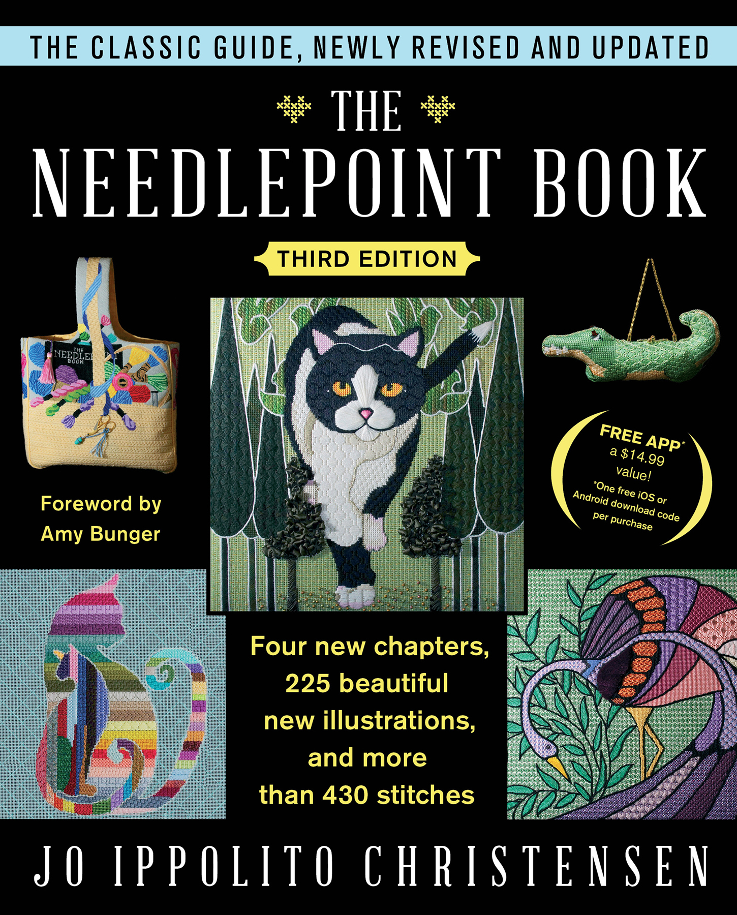 Needlepoint Book Cover