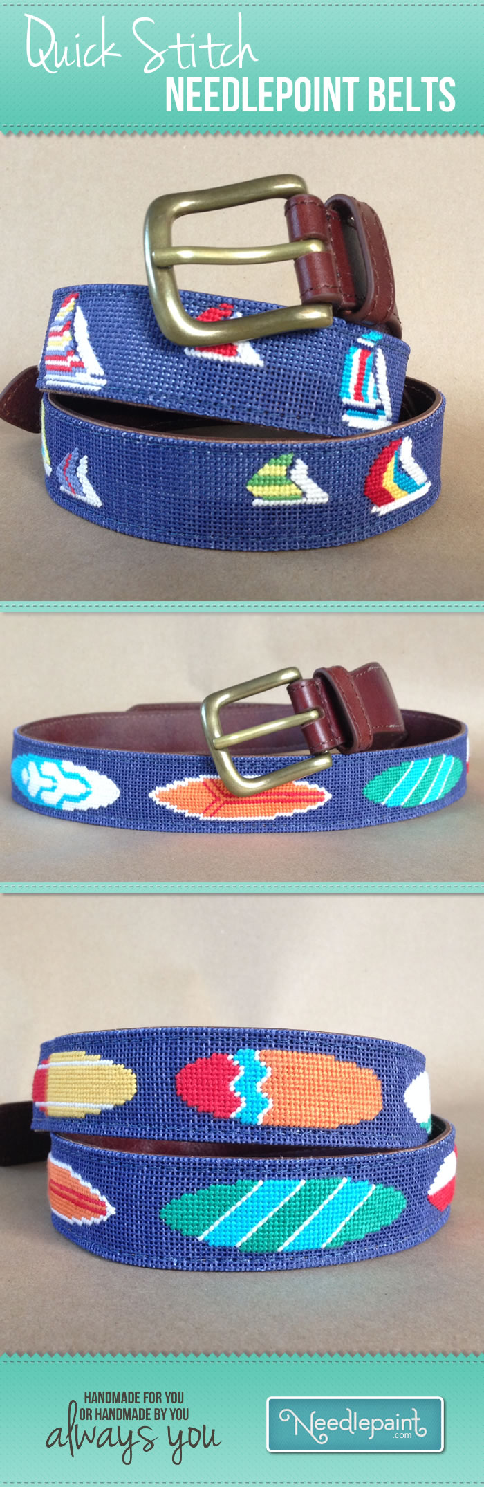 Quick Stitch Needlepoint Belts