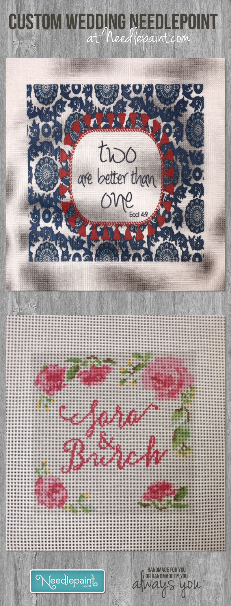 Wedding Needlepoint
