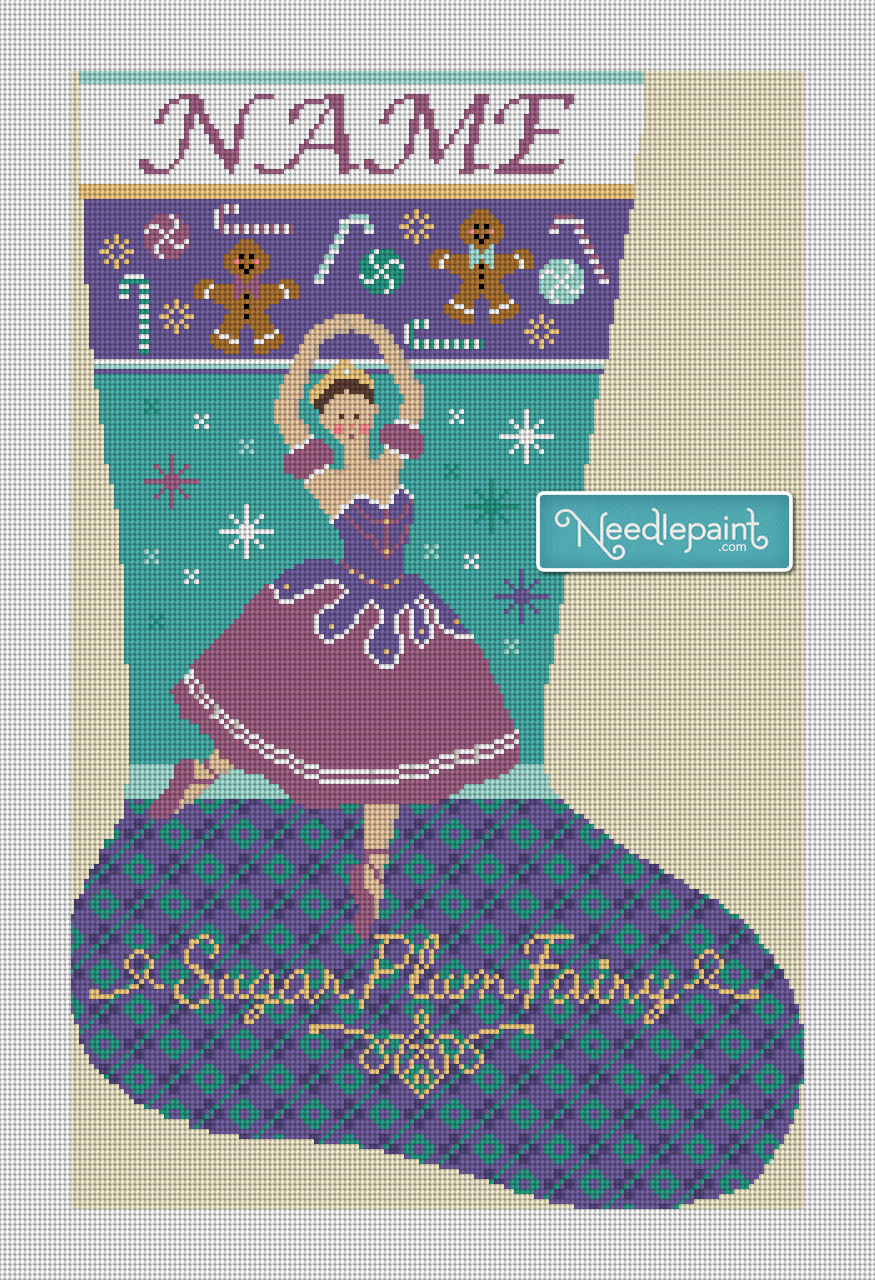 Nutcracker Sugar Plum Fairy Needlepoint Kit