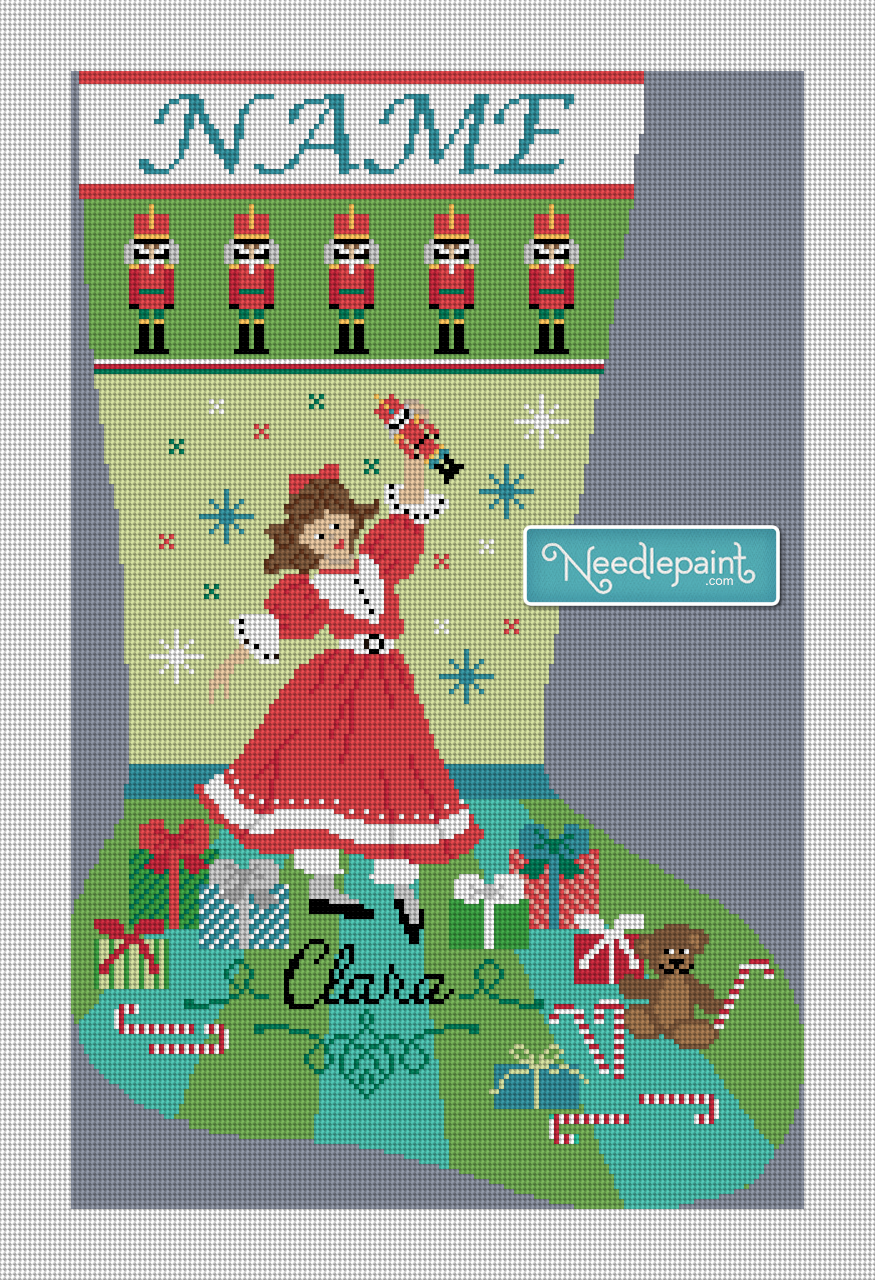 Nutcracker Suite Clara Needlepoint Stocking Kit