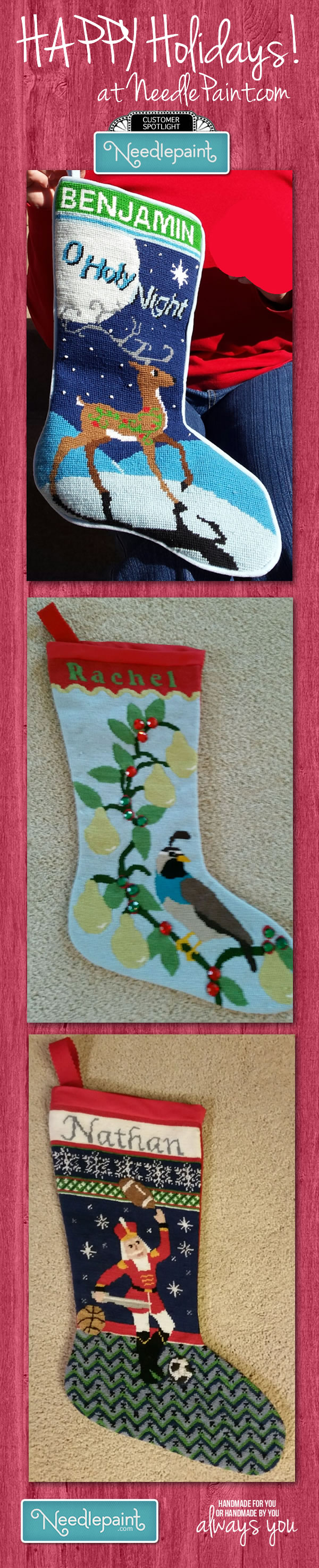Needlepoint Chirstmas Stockings