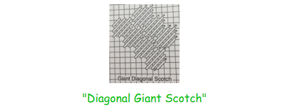 diagonol giant scotch stitch