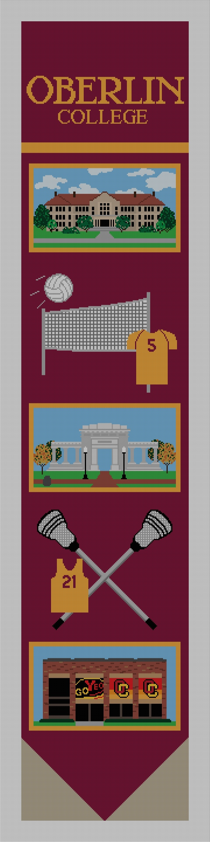 Oberlin College Bell Pull Needlepoint Canvas Preview