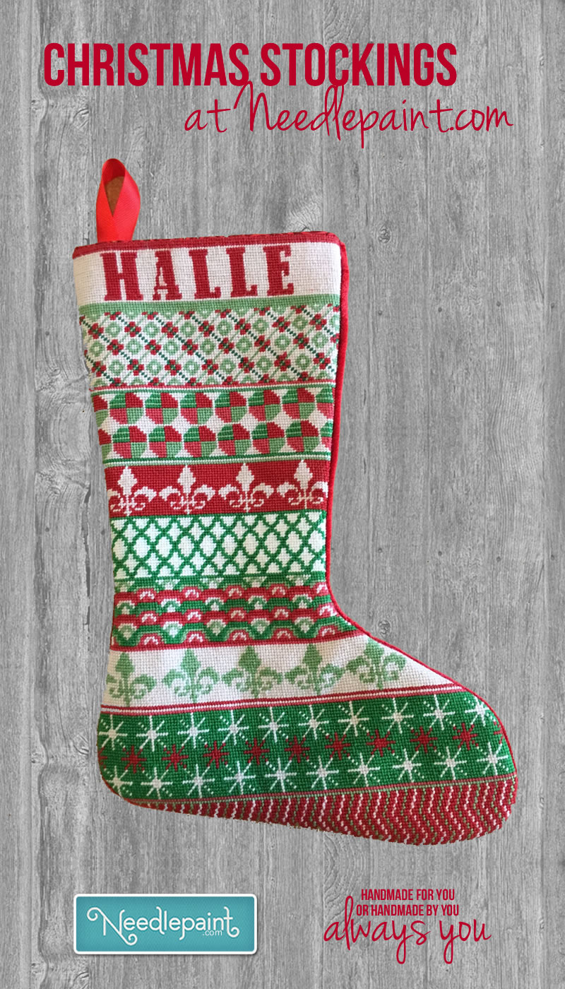 Custom Christmas Needlepoint Stockings