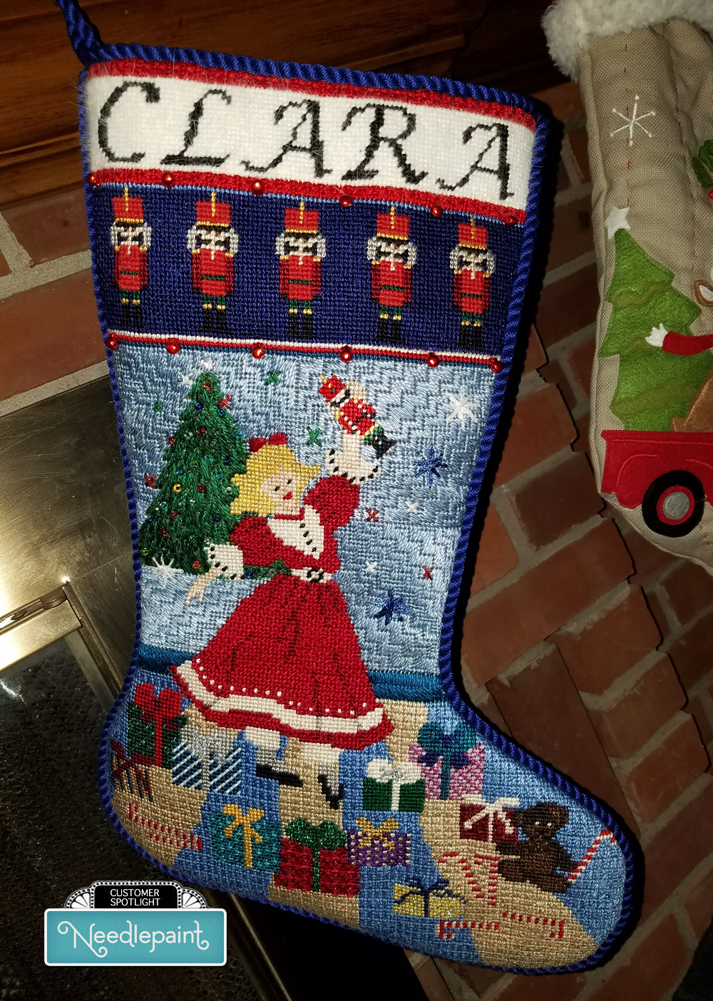 Fun Stitch Needlepoint Christmas Stocking