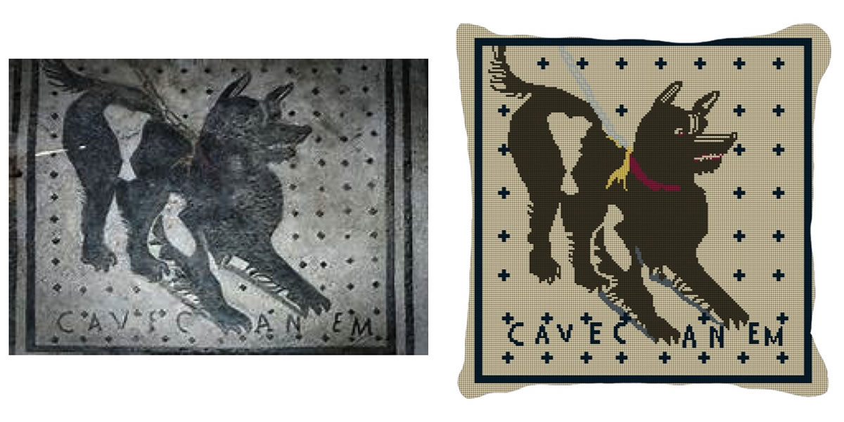 Cave Canem Needlepoint Canvas