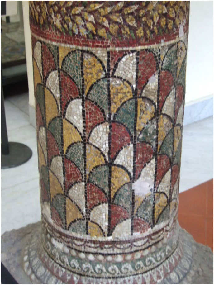 Column section from the House of the Mosaic Columns