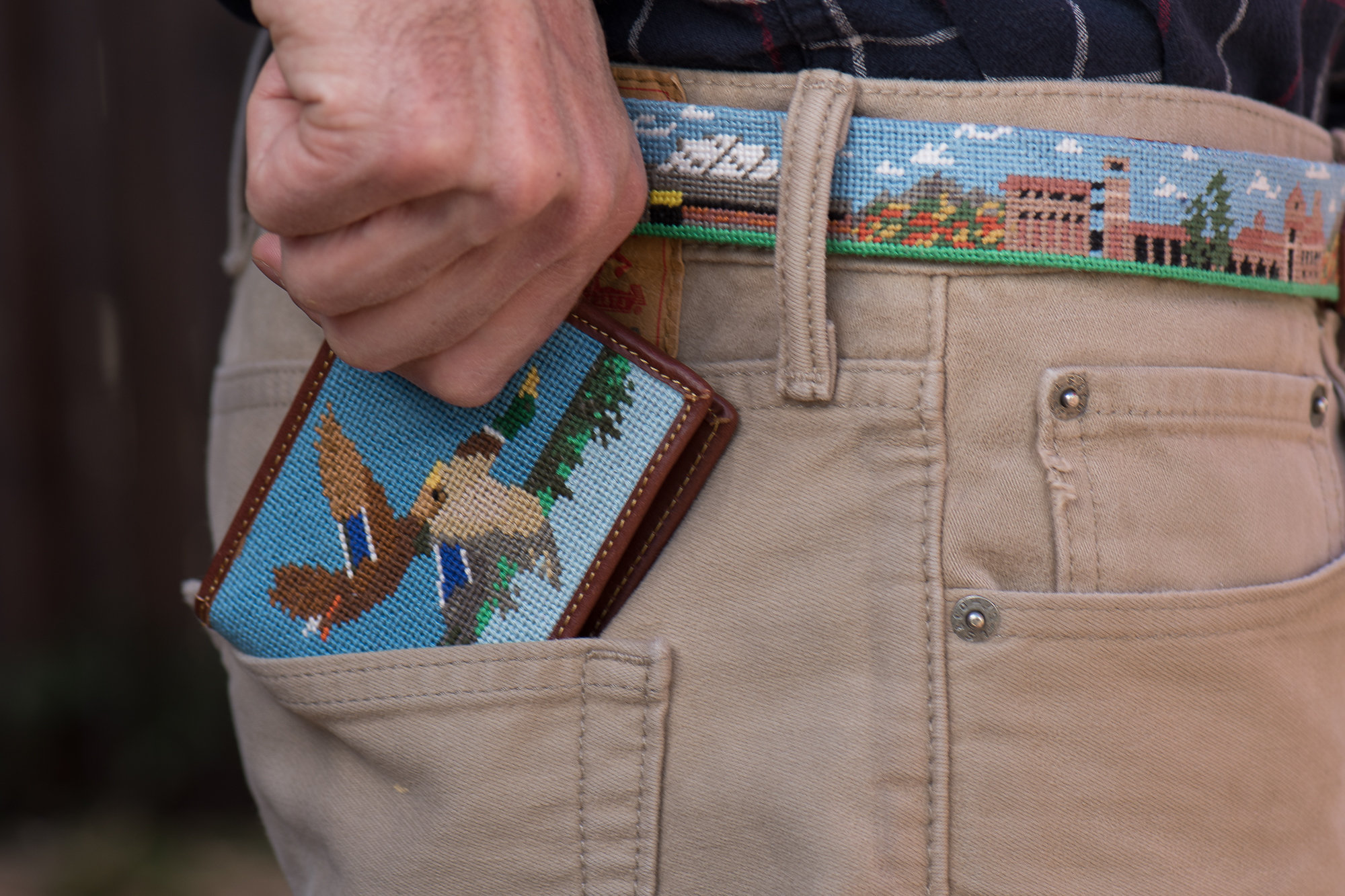 Duck Hunting Needlepoint Wallet