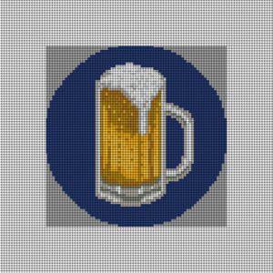 custom needlepoint beer ornament