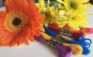 NeedlePaint Flower pillow blog 1