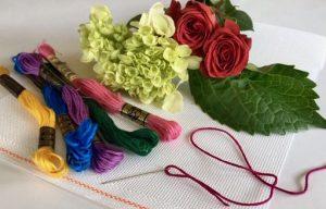 NeedlePaint Flower pillow blog 2