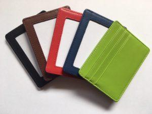 NeedlePaint self finishing card wallet colors