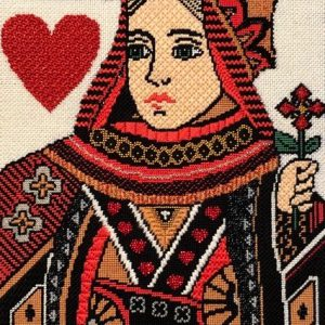 Queen of Hearts Needlepoint canvas