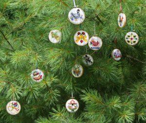 Hanging NeedlePaint Ornaments