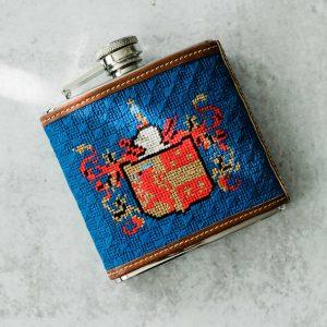 NeedlePaint family crest flask 1.4-2