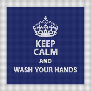 Wash Your Hands Keep Calm Needlepoint