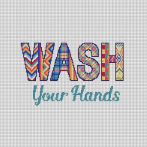 Wash Your Hands Needlepoint