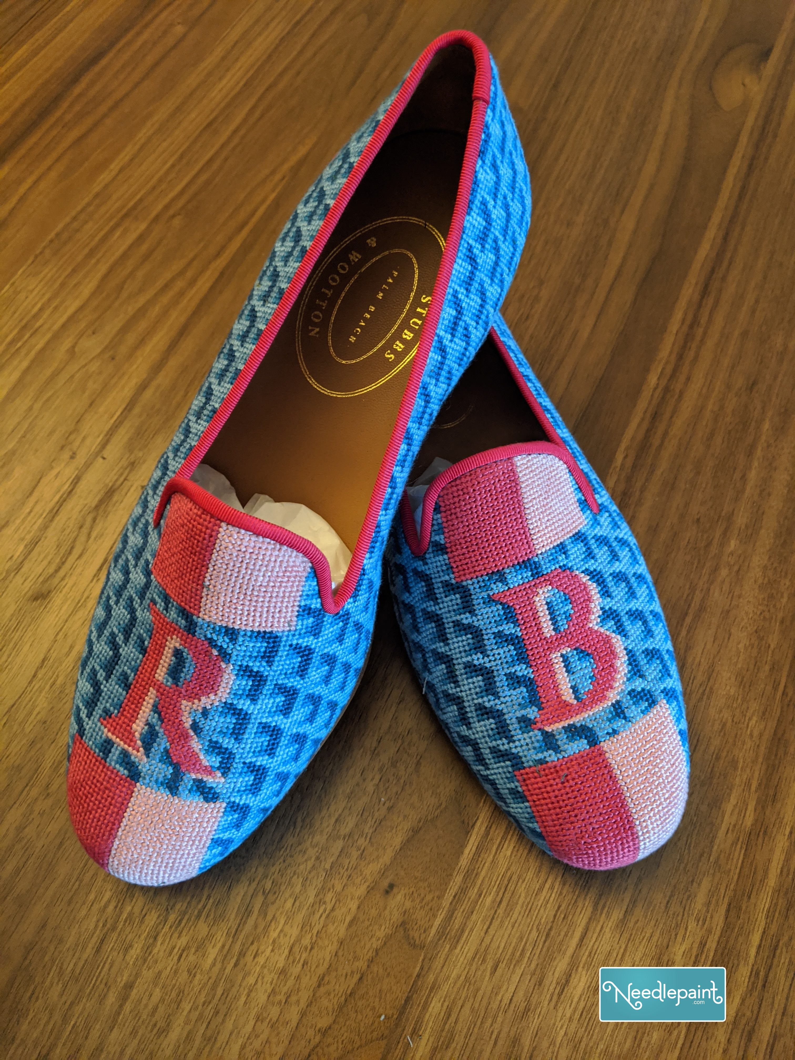 Custom Needlepoint Slippers and Loafers