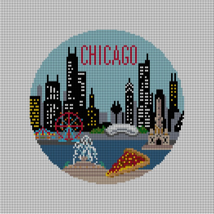 Chicago Needlepoint Ornament Canvas