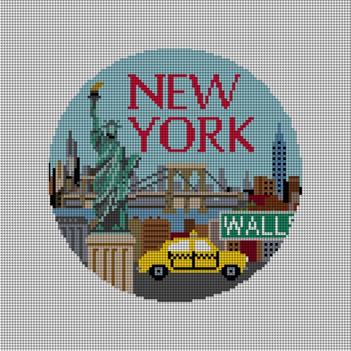 New York Needlepoint Ornament Canvas