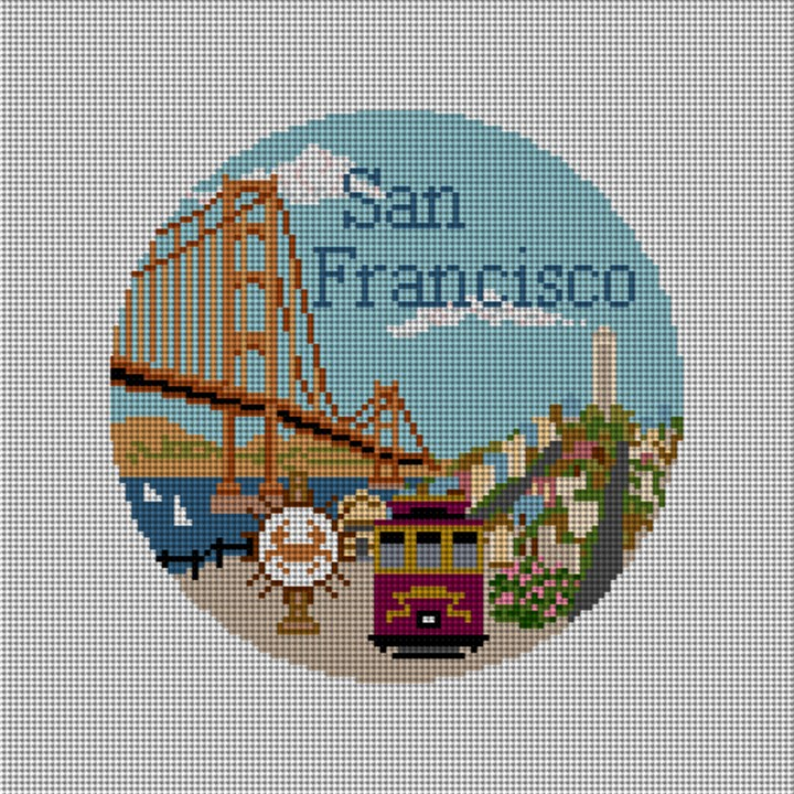 San Francisco Needlepoint Ornament Canvas