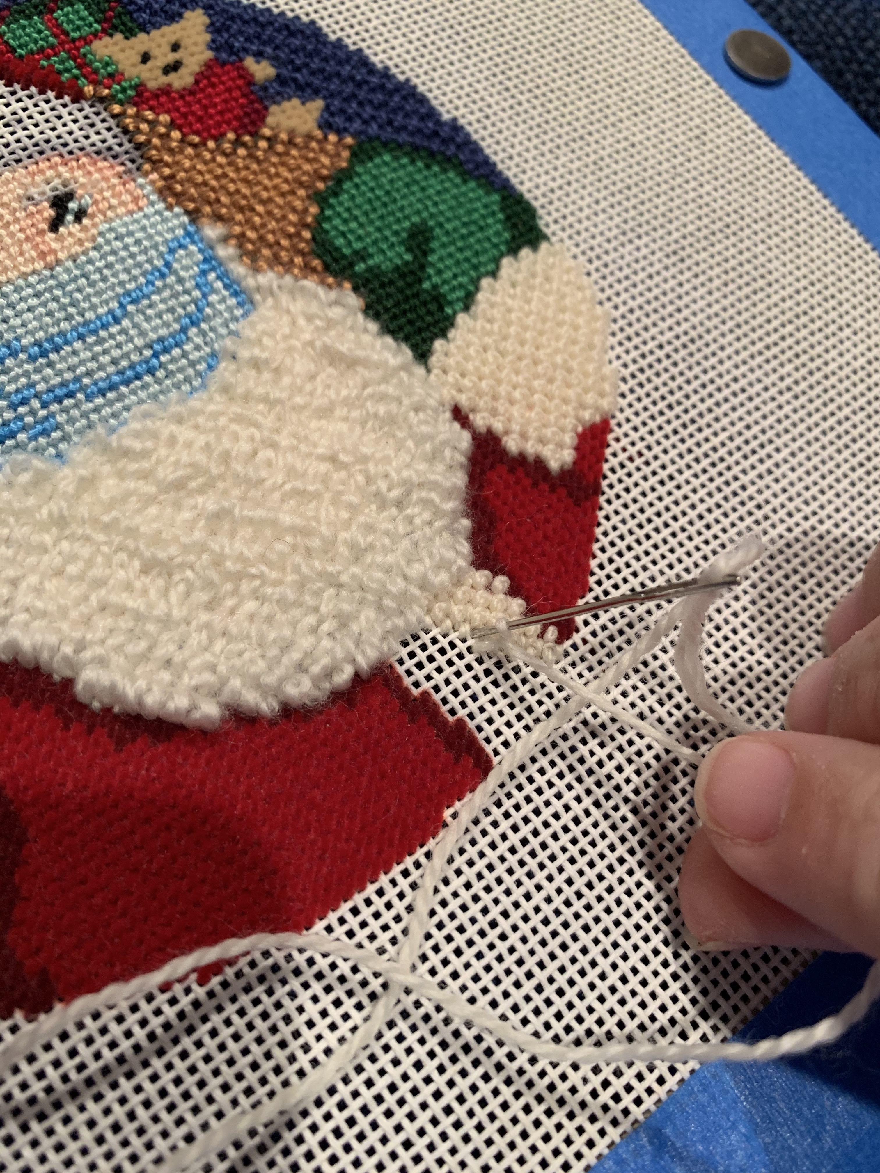 NeedlePaint Santa's X Mask Ornament 4 copy