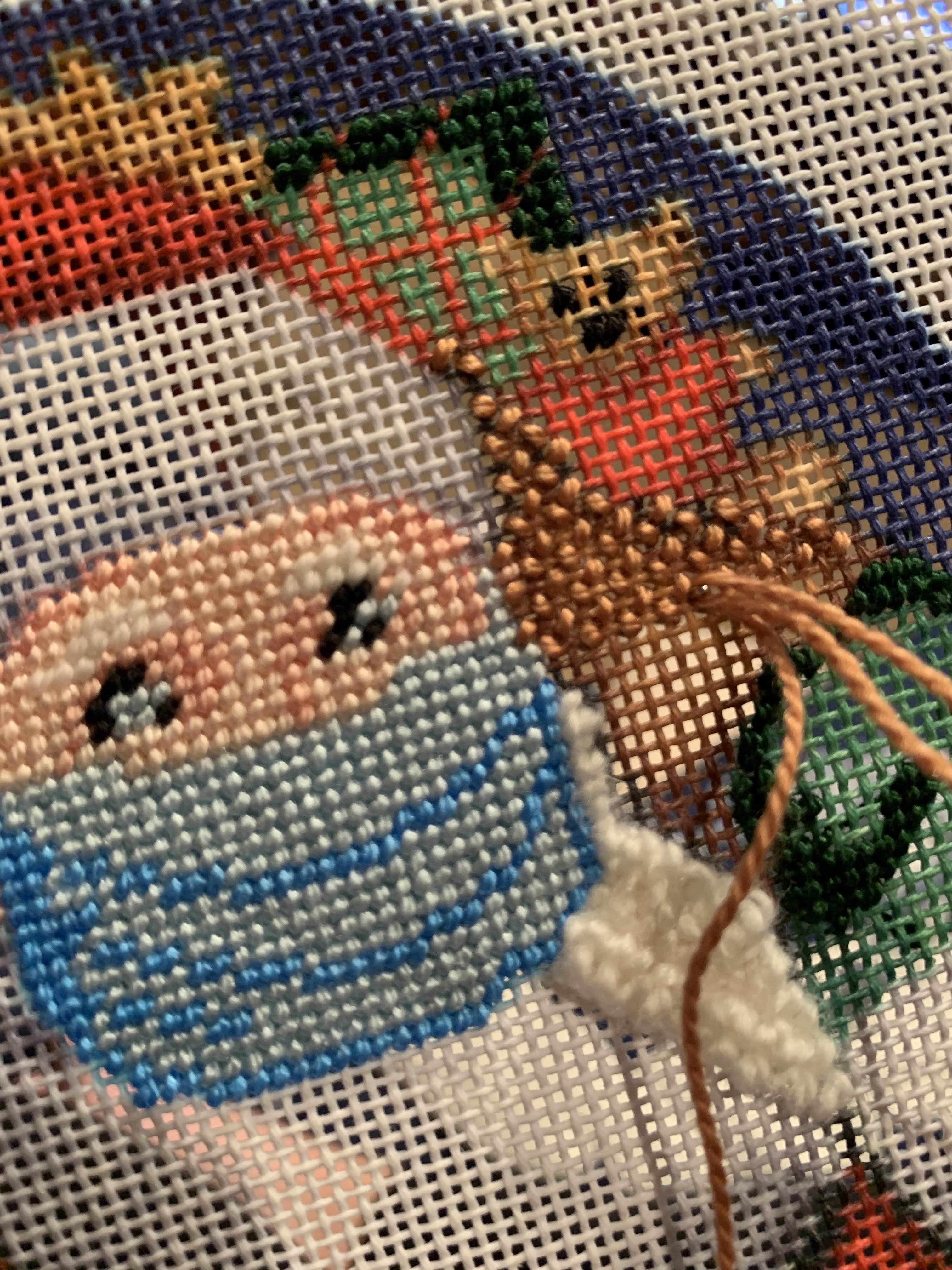 NeedlePaint Santa's X Mask Ornament.2