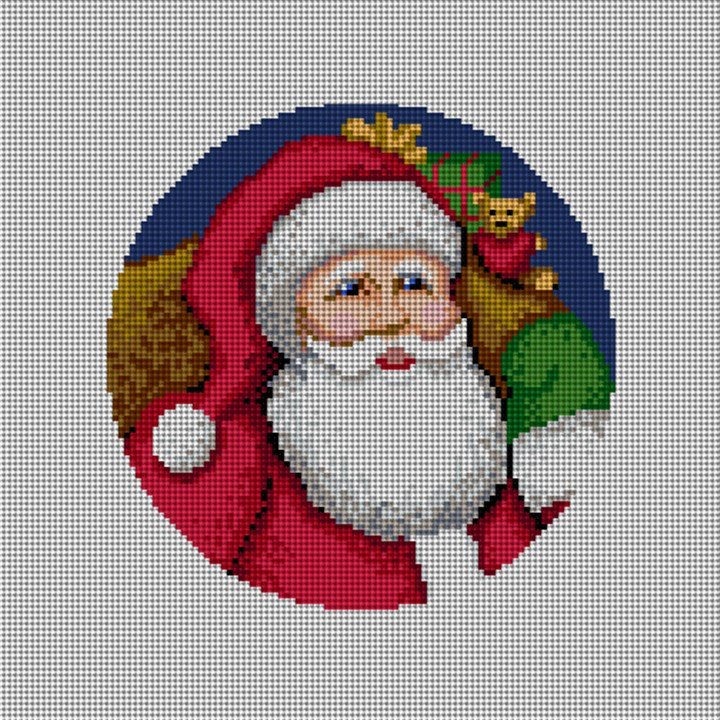 St. Nick's Delivery Needlepoint Ornament Canvas