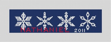 Snowflake Needlepoint Christmas Ornaments
