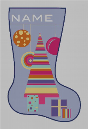 Custom Needlepoint Canvas Christmas Tree Stocking