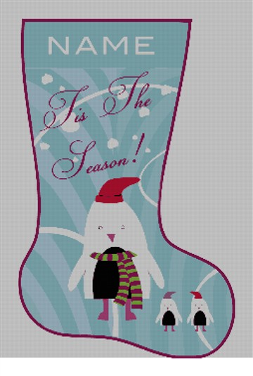Tis the Season Fun Needlepoint Stocking Kit