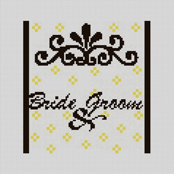 Custom Wedding Ring Pillow Needlepoint Canvas
