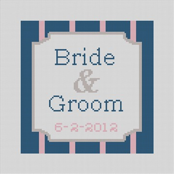 Personalized Ring Bearer Pillow Canvas  Pinstripe