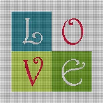 LOVE Needlepoint Ring Bearer Pillow Canvas