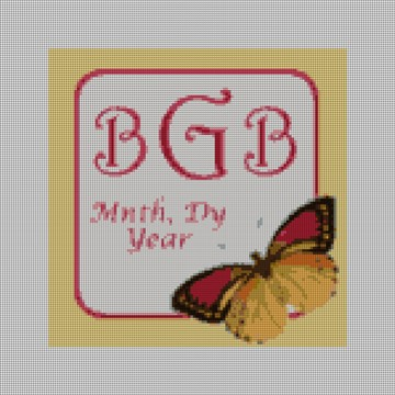 Butterfly Monogram Needlepoint Canvas