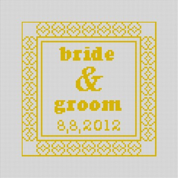 Yellow Timeless Wedding Ring Pillow Canvas