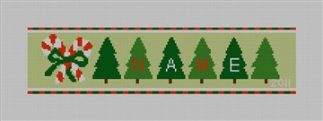 Candy Cane - Personalized Needlepoint Canvas