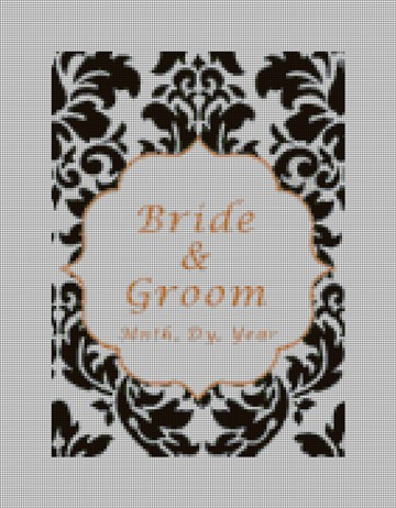 Custom Damask Wedding Ring Bearer Pillow Canvas