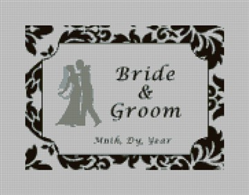 Waltz Custom Needlepoint Ring Bearer Canvas