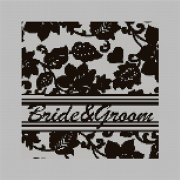 Custom Wedding Ring Bearer Needlepoint Canvas