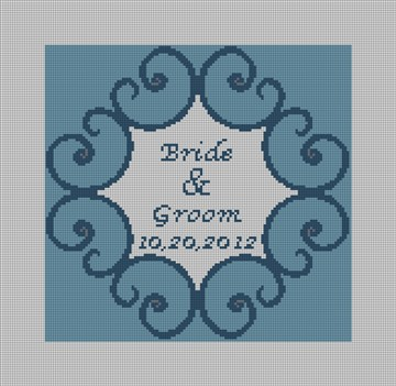 Iron Scroll Ring Bearer Pillow Needlepoint Canvas